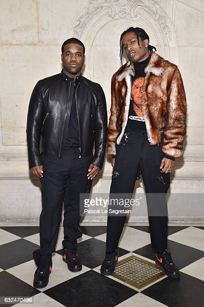 Ferg and ASAP Rocky attend the Christian Dior Haute Couture Spring Summer 2017 show as part of Paris Fashion Week on January 23 2017 in Paris France