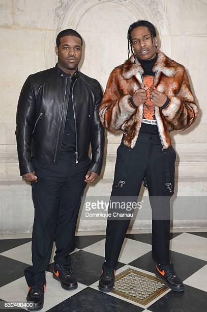 ASAP Ferg and ASAP Rocky attends the Christian Dior Haute Couture Spring Summer 2017 show as part of Paris Fashion Week on January 23 2017 in Paris...
