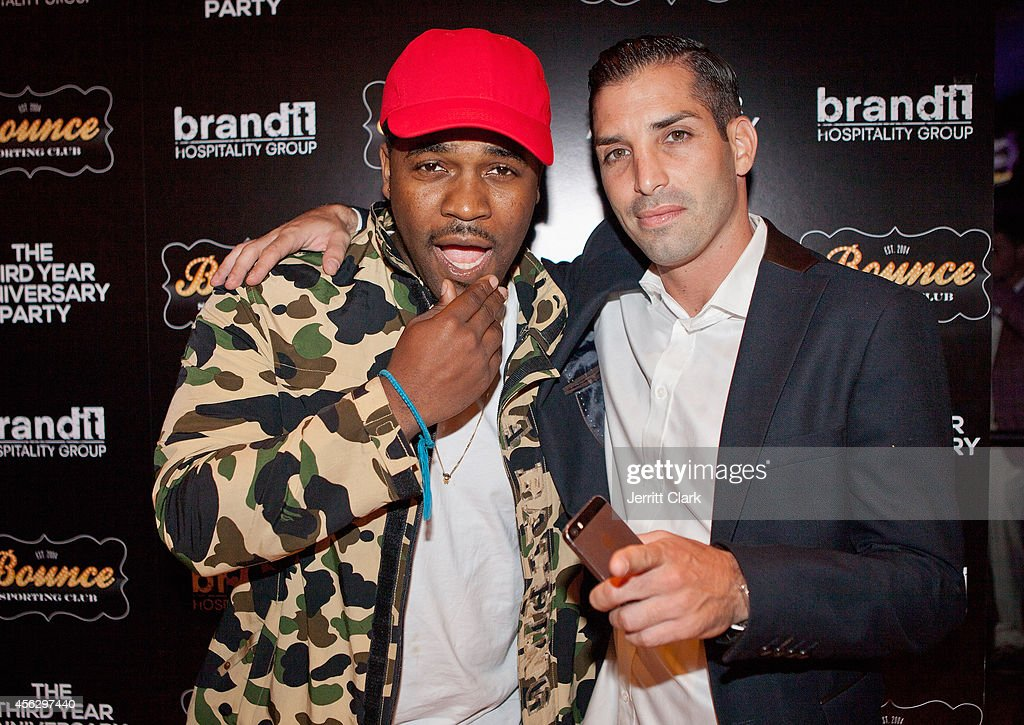 Ferg and Cole Bernard attends the 3yr Anniversary Party of Bounce Sporting Club on September 16 2014 in New York City