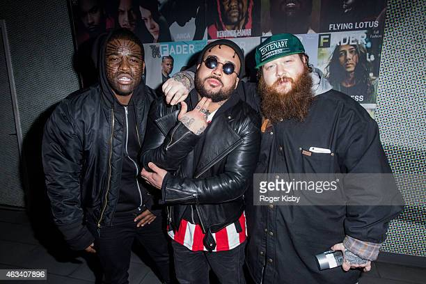 ASAP Ferg Bodega Bamz and Action Bronson attend The FADER AllStar Ping Pong Tournament at SPiN New York on February 13 2015 in New York New York
