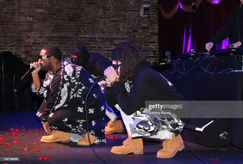 Ferg (L) of A$AP Mob performs at the Brooklyn Bowl on December 26, 2012 in New York City.