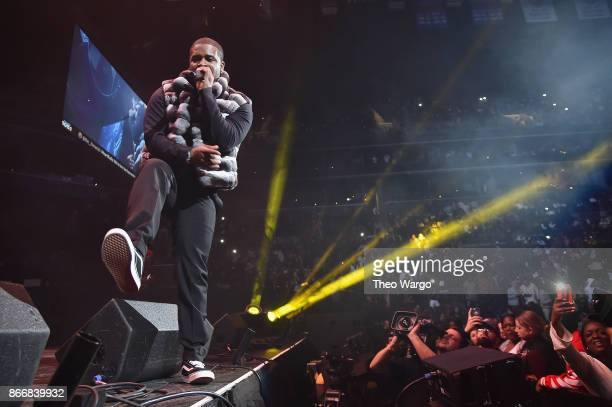 Ferg performs onstage during 1051's Powerhouse 2017 at the Barclays Center on October 26 2017 in the Brooklyn New York City City