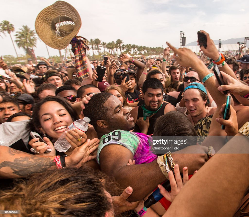 Ferg performs onstage during day 1 of the 2014 Coachella Valley Music Arts Festival at the Empire Polo Club on April 18 2014 in Indio California