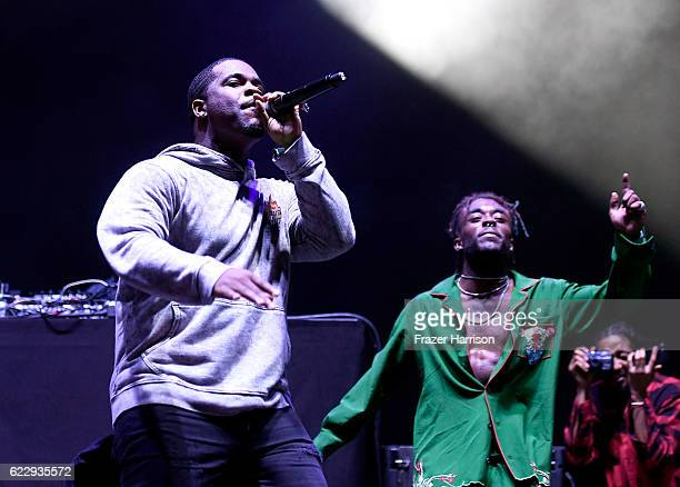 Ferg performs with Lil Uzi Vert on Flog Stage during day one of Tyler the Creator's 5th Annual Camp Flog Gnaw Carnival at Exposition Park on November...