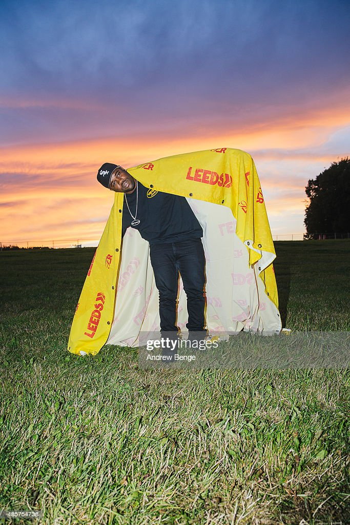 Ferg poses back stage at Leeds Festival at Bramham Park on August 29 2015 in Leeds England