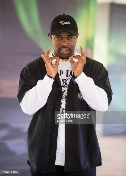Ferg poses for a photo backstage during 2017 Governors Ball Music Festival Day 2 at Randall's Island on June 3 2017 in New York City