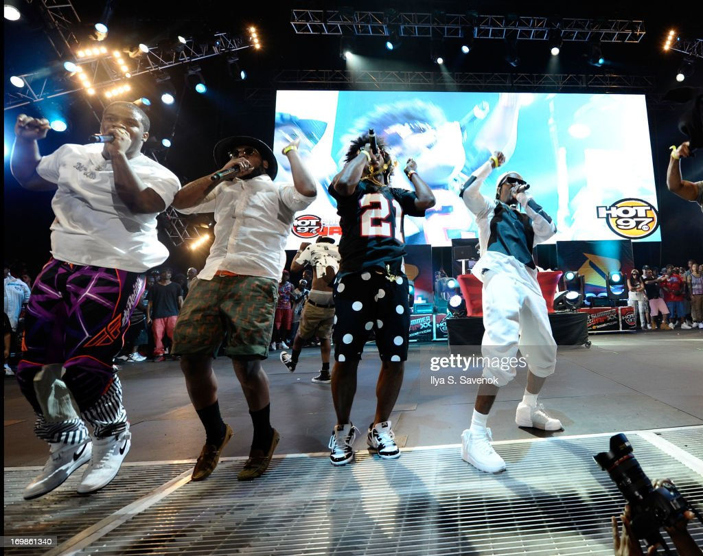Ferg, Schoolboy Q, Trinidad James and A$AP Rocky perform during HOT 97 Summer Jam XX at MetLife Stadium on June 2, 2013 in East Rutherford, New Jersey.