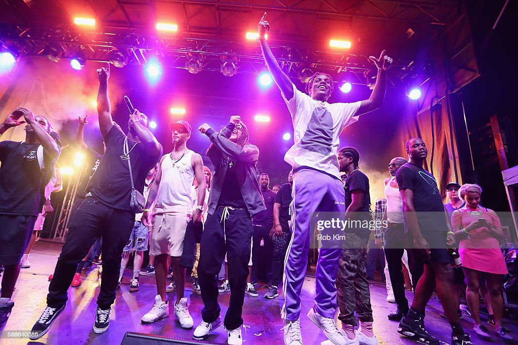 Ferg Swizz Beatz ASAP Rocky and guests perform onstage as BACARDI and Swizz Beatz' The Dean Collection present 'No Commission Art Performs' Day 1 on...