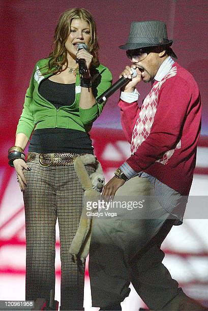 Fergie and apldeap of Black Eyed Peas during Black Eyed Peas in Concert at El Coliseo de Puerto Rico in San Juan November 17 2005 at Coliseo de...