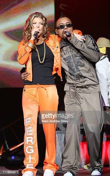 Fergie and apldeap of the Black Eyed Peas during Black Eyed Peas 'Honda Civic Tour' at Agganis Arena in Boston April 29 2006 at Agganis Arena in...