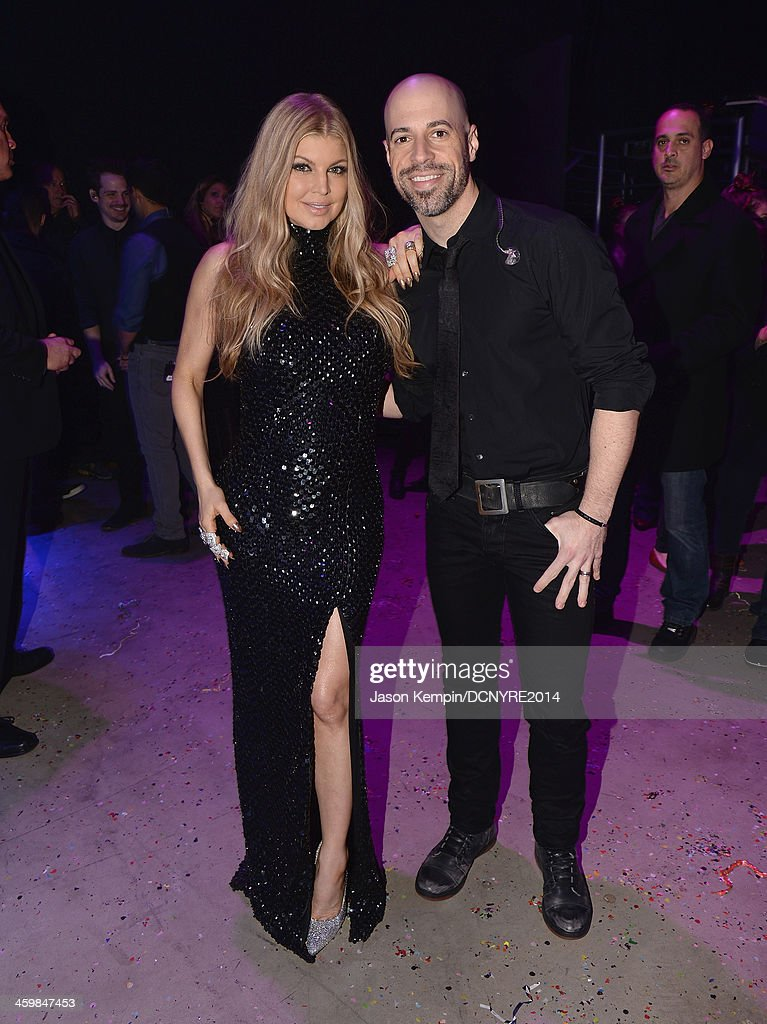 Fergie and <a gi-track='captionPersonalityLinkClicked' href=/galleries/search?phrase=Chris+Daughtry&family=editorial&specificpeople=614842 ng-click='$event.stopPropagation()'>Chris Daughtry</a> attend Dick Clark's New Year's Rockin Eve with Ryan Seacrest 2014 at Sunset Gower Studios on December 31, 2013 in Los Angeles, California.