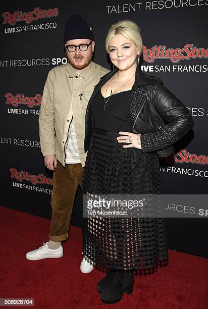 Fergie and Elle King attend the Rolling Stone Live Party on their engagement day at San Francisco Design Center on February 6 2016 in San Francisco...