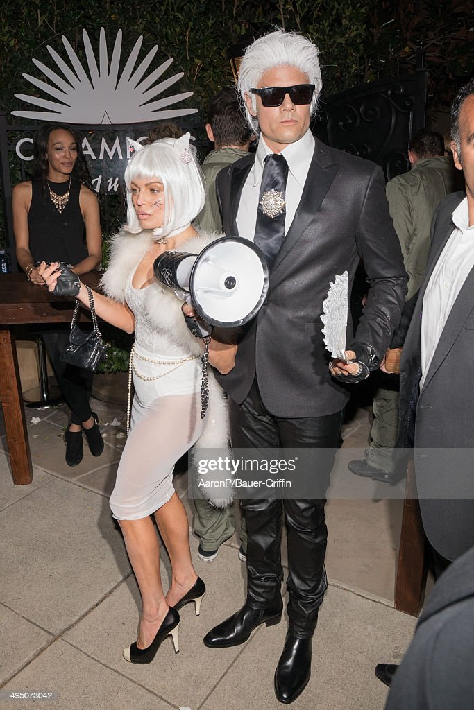 Fergie and Josh Duhamel are seen celebrating Halloween in Beverly Hills on October 30, 2015 in Los Angeles, California.