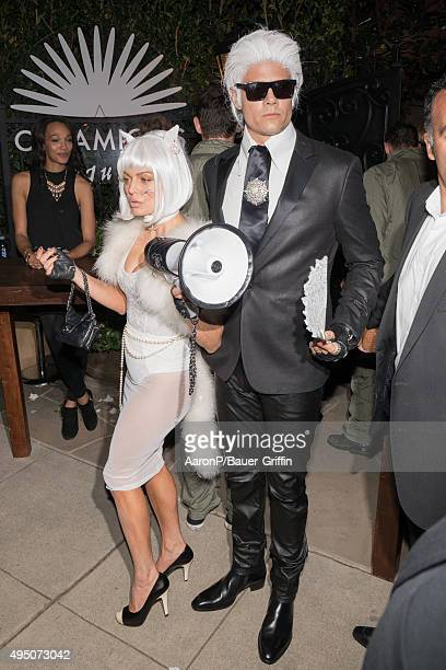 Fergie and Josh Duhamel are seen celebrating Halloween in Beverly Hills on October 30 2015 in Los Angeles California