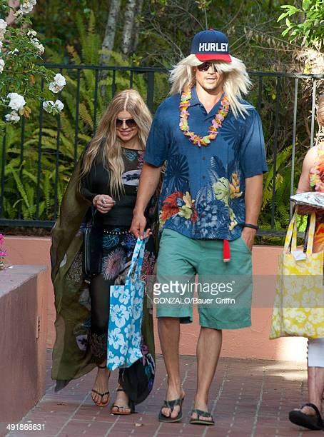 Fergie and Josh Duhamel are seen on May 17 2014 in Los Angeles California