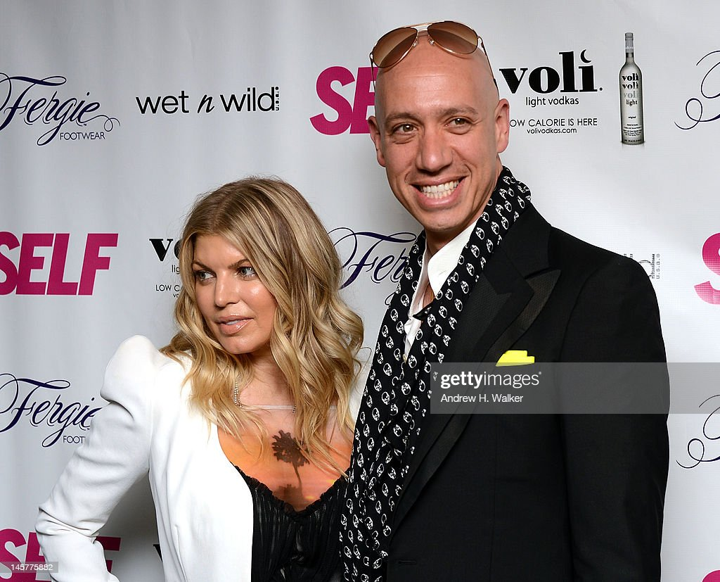 Fergie and <a gi-track='captionPersonalityLinkClicked' href=/galleries/search?phrase=Robert+Verdi&family=editorial&specificpeople=209358 ng-click='$event.stopPropagation()'>Robert Verdi</a> attend SELF Magazine's July Issue Launch With Fergie on June 5, 2012 in New York, United States.