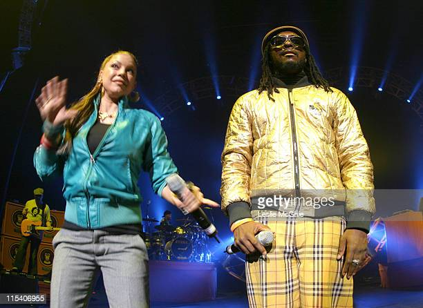 Fergie and willIam of the Black Eyed Peas during Black Eyed Peas in Concert December 19 2005 at Hammersmith Apollo in London Great Britain
