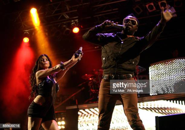 Fergie and william of The Black Eyed Peas perform during the 2009 Glastonbury Festival at Worthy Farm in Pilton Somerset