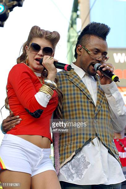 Fergie apldeap of the Black Eyed Peas during KIIS 1027's Wango Tango at Angel's Stadium in Anaheim California United States