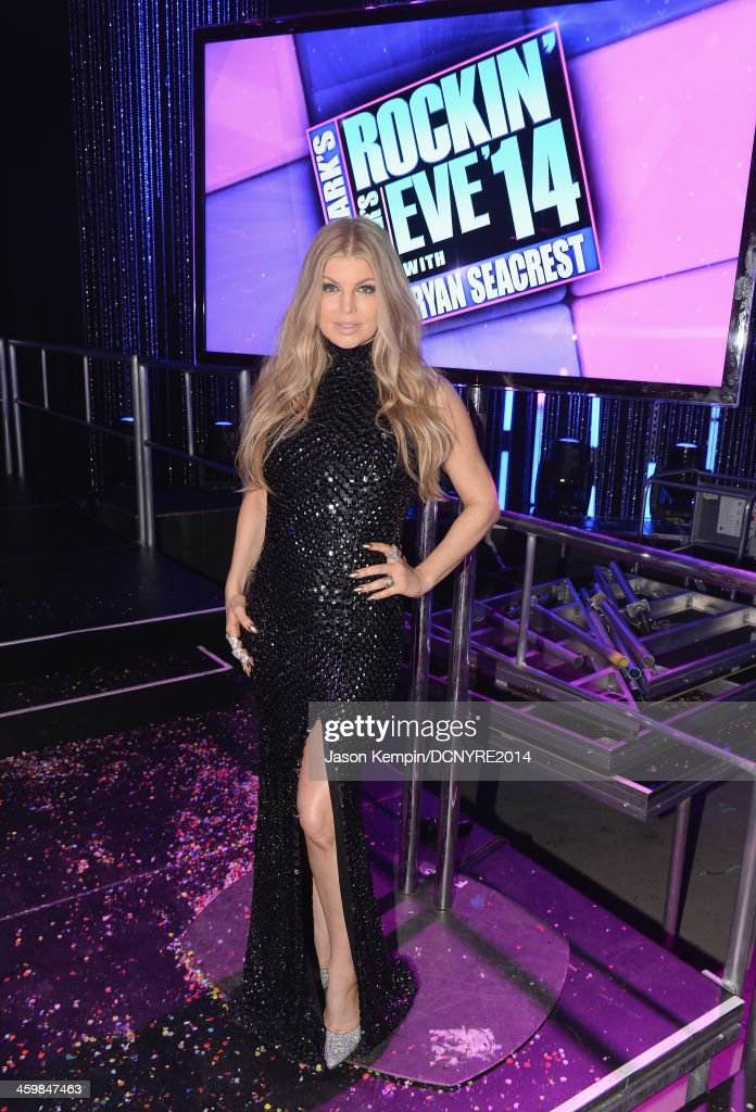 Fergie attends Dick Clark's New Year's Rockin Eve with Ryan Seacrest 2014 at Sunset Gower Studios on December 31, 2013 in Los Angeles, California.