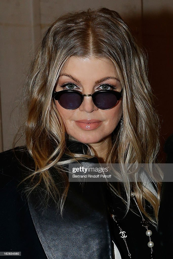 Fergie attends the Balmain Fall/Winter 2013 Ready-to-Wear show as part of Paris Fashion Week on February 28, 2013 in Paris, France.