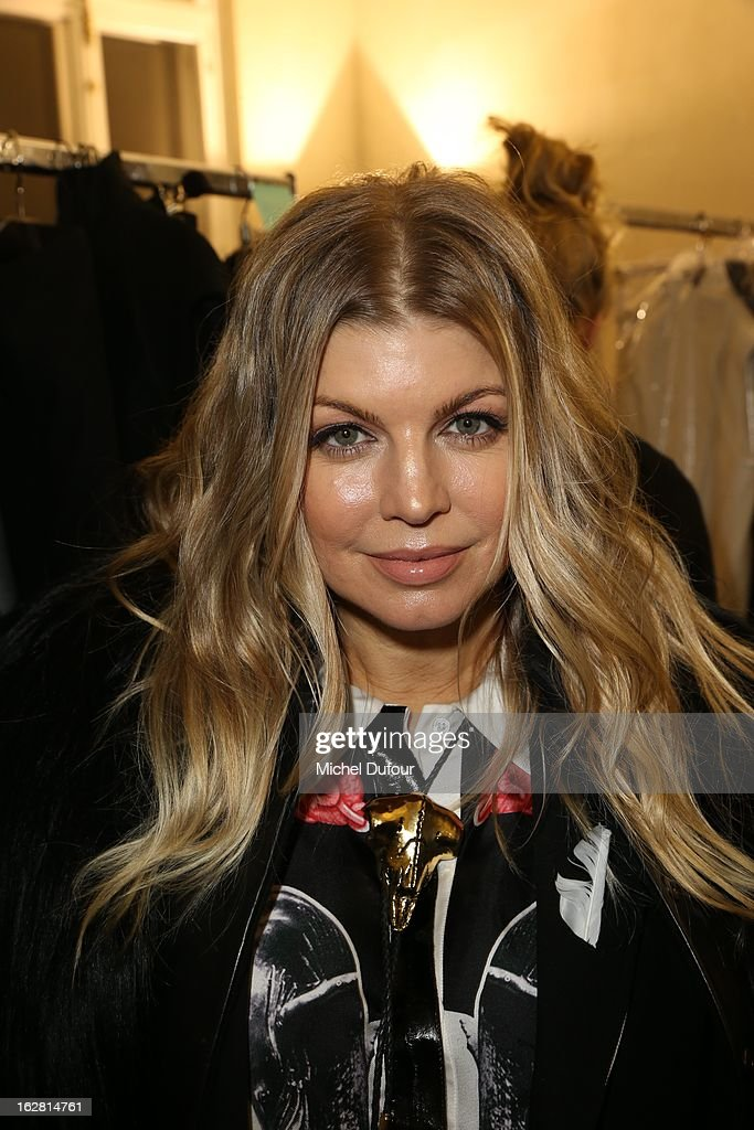 Fergie attends the Gareth Pugh Fall/Winter 2013 Ready-to-Wear show as part of Paris Fashion Week on February 27, 2013 in Paris, France.