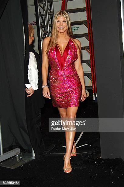 Fergie attends The Heart Truth Red Dress Collection Fall 2006 at The Tent at Bryant Park on February 3 2006 in New York