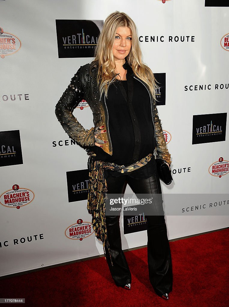 Fergie attends the premiere of 'Scenic Route' at Chinese 6 Theater Hollywood on August 20, 2013 in Hollywood, California.