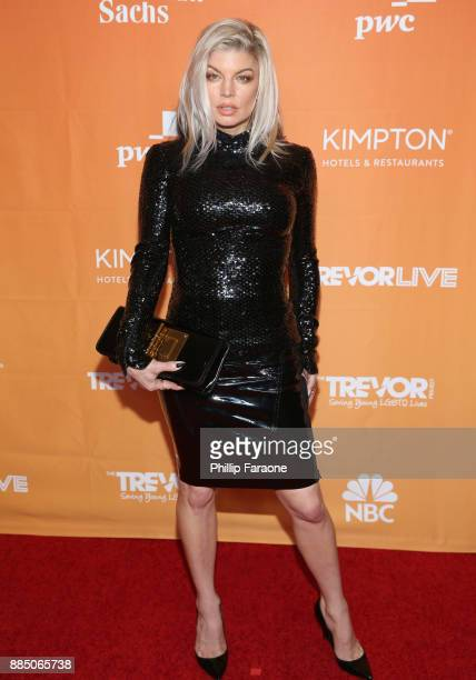 Fergie attends The Trevor Project's 2017 TrevorLIVE LA Gala at The Beverly Hilton Hotel on December 3 2017 in Beverly Hills California