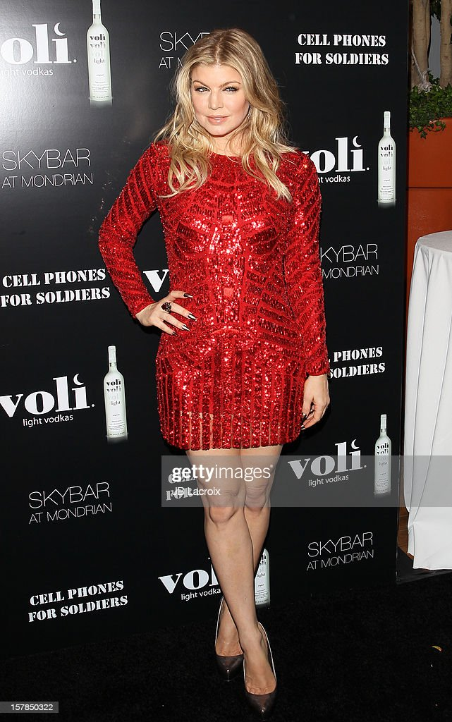 Fergie attends the Voli Lights Vodka Benefit at SkyBar at the Mondrian Los Angeles on December 6, 2012 in West Hollywood, California.