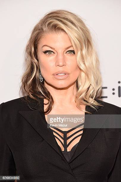 Fergie attends Two Ten Footwear Foundation's 77th annual dinner and gala at Hammerstein Ballroom on November 30 2016 in New York City