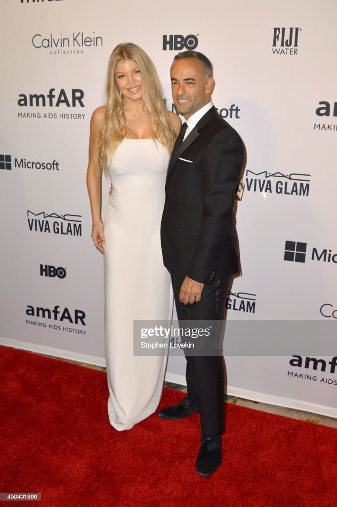 Fergie Duhamel and Calvin Klein Collection designer Francisco Costa attend the amfAR Inspiration Gala New York 2014 at The Plaza Hotel on June 10, 2014 in New York City.
