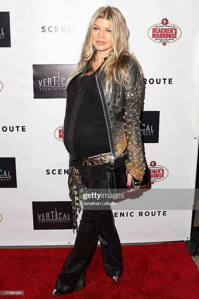 <a gi-track='captionPersonalityLinkClicked' href=/galleries/search?phrase=Fergie+Duhamel&family=editorial&specificpeople=171894 ng-click='$event.stopPropagation()'>Fergie Duhamel</a> arrives to the 'Scenic Route' Los Angeles Premiere at Chinese 6 Theater Hollywood on August 20, 2013 in Hollywood, California.