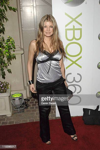 Fergie from the Black Eyed Peas during XBOX 360 Launch Party at Private Residence in Los Angeles California United States