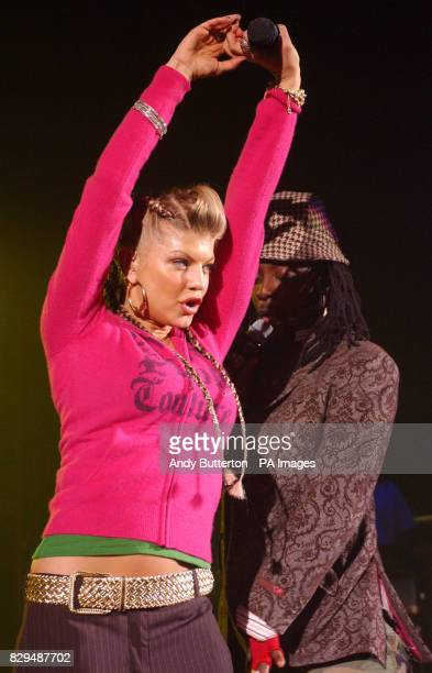 Fergie from the Black Eyed Peas performs live on stage