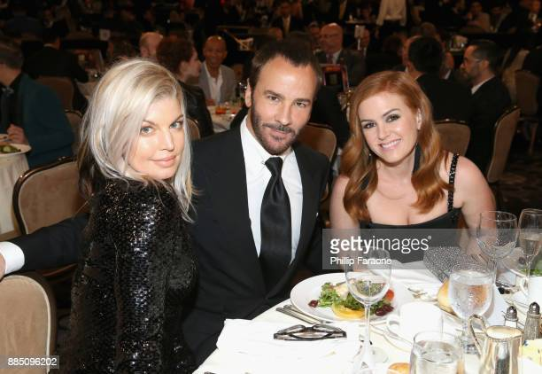 Fergie honoree Tom Ford and Isla Fisher attend The Trevor Project's 2017 TrevorLIVE LA Gala at The Beverly Hilton Hotel on December 3 2017 in Beverly...