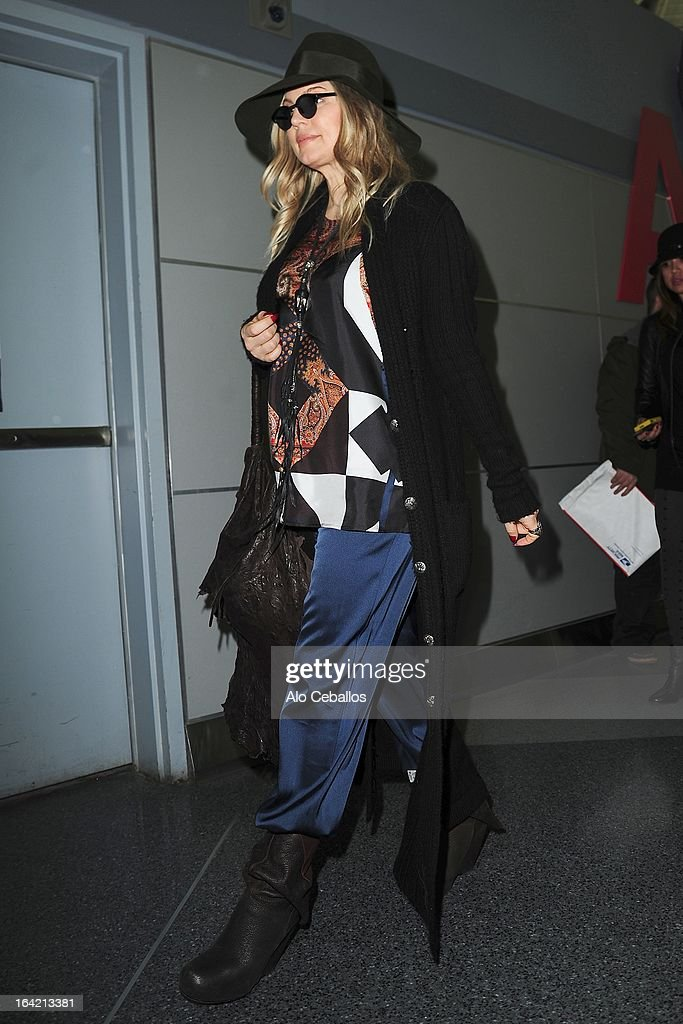 Fergie is seen at JFK Airport on March 20, 2013 in New York City.