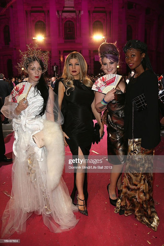 Fergie, Kelly Osbourne and Fatima Robinson attend the 'Life Ball 2013 - Magenta Carpet Arrivals' at City Hall on May 25, 2013 in Vienna, Austria.
