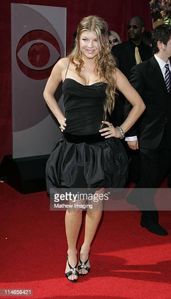 Fergie of Black Eyed Peas during 57th Annual Primetime Emmy Awards Arrivals at The Shrine in Los Angeles California United States