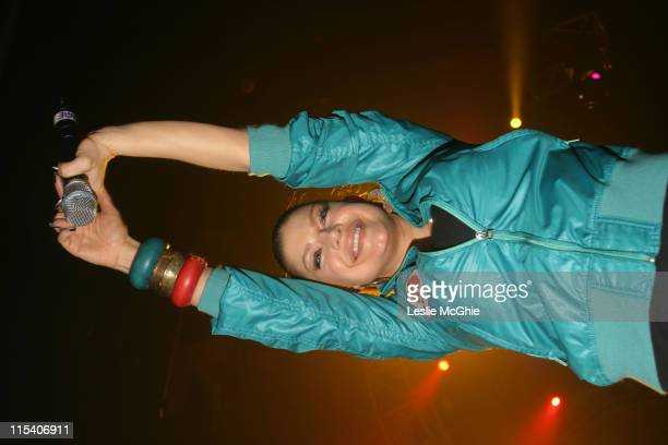 Fergie of Black Eyed Peas during Black Eyed Peas in Concert December 19 2005 at Hammersmith Apollo in London Great Britain