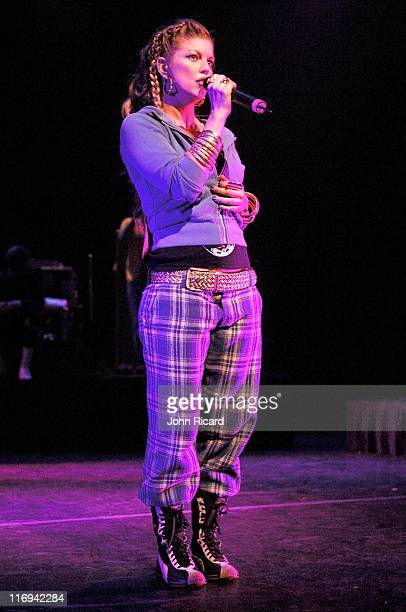 Fergie of Black Eyed Peas during Black Eyed Peas Live At The Apollo Theater June 9 2005 at Apollo Theater in New York City New York United States