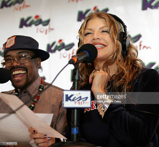 Fergie of Black Eyed Peas during KISS 108 FM KISS Concert 2005 Interview Room at Tweeter Center in Mansfield Massachusetts United States