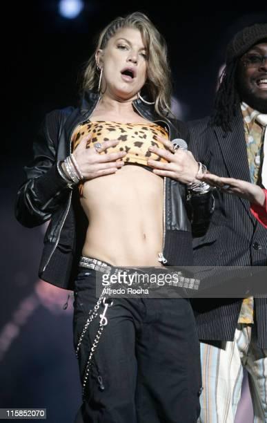 Fergie of Black Eyed Peas during Rock in Rio IV Day 5 at Belavista Park in Lisbon Belavista Park Portugal