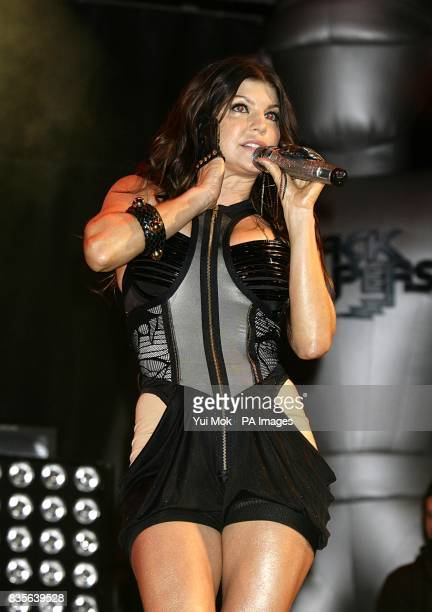 Fergie of Black Eyed Peas performing during the 2009 Glastonbury Festival at Worthy Farm in Pilton Somerset