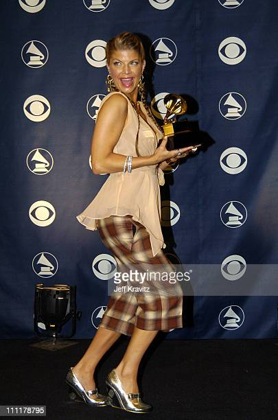 Fergie of Black Eyed Peas winner of Best Rap Performance By A Duo Or Group for 'Let's Get It Started'