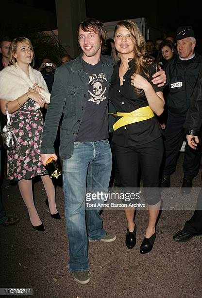 Fergie of The Black Eyed Peas and James Blunt during 2006 NRJ Music Awards at Midem After Show Departures at Palais des Festivals in Cannes France