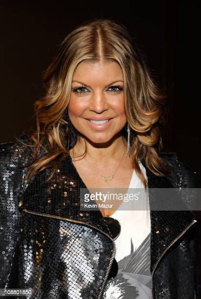 Fergie of the Black Eyed Peas attends the Bridgestone Super Bowl XLV Halftime Show press conference on February 3 2011 in Dallas Texas