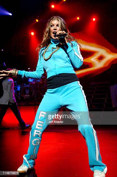 Fergie of the Black Eyed Peas during Black Eyed Peas 'Honda Civic Tour' at Gibson Ampitheatre in Los Angeles March 28 2006 at Gibson Ampitheatre in...