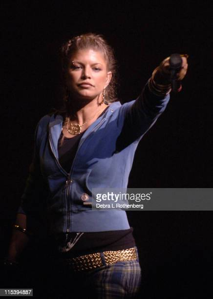 Fergie of The Black Eyed Peas during Black Eyed Peas Live At The Apollo Theater June 9 2005 at Apollo Theater in New York City New York United States