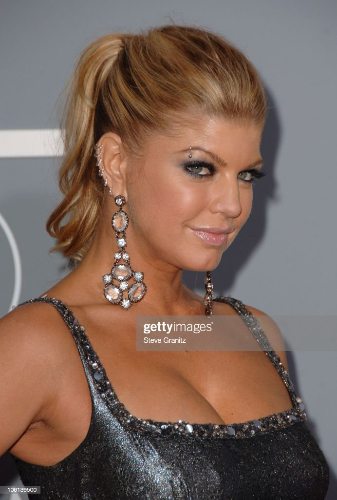 Fergie of <a gi-track='captionPersonalityLinkClicked' href=/galleries/search?phrase=The+Black+Eyed+Peas+-+Band&family=editorial&specificpeople=173381 ng-click='$event.stopPropagation()'>The Black Eyed Peas</a>, nominee Best Pop Performance By A Duo Or Group With Vocal for 'My Humps'